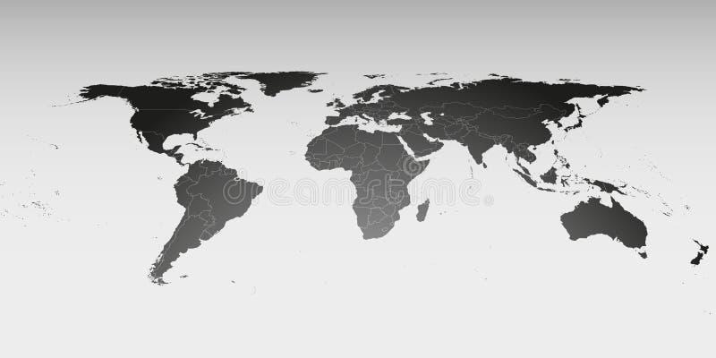在透视,传染媒介模板的世界地图为 皇族释放例证