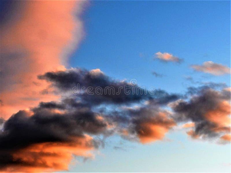在都伯林的晚上天空 免版税图库摄影