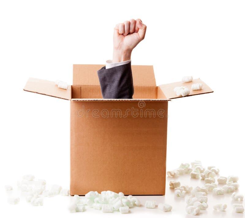 在配件箱外面的次幂 免版税库存照片