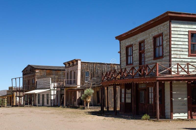 在酶斯卡尔酒,亚利桑那的老狂放的西部电影布景 图库摄影