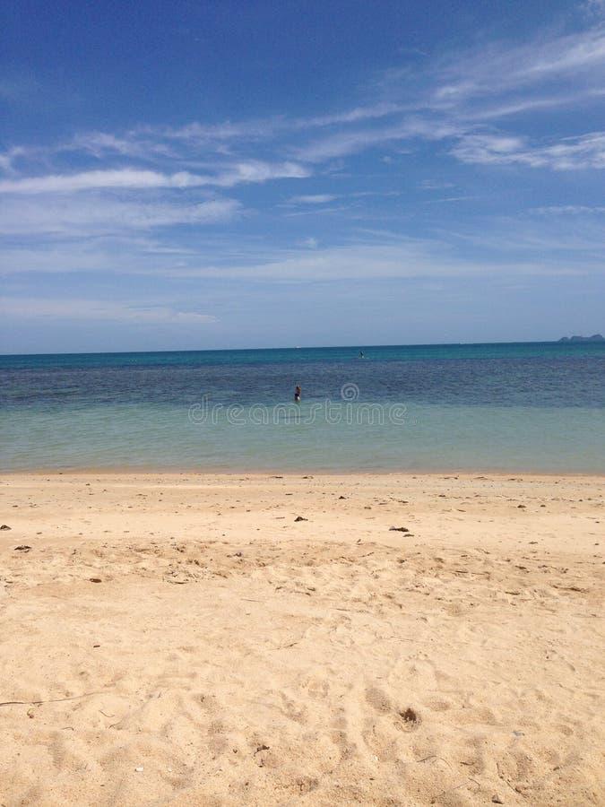 在酸值苏梅岛的泰国海滩 免版税库存照片