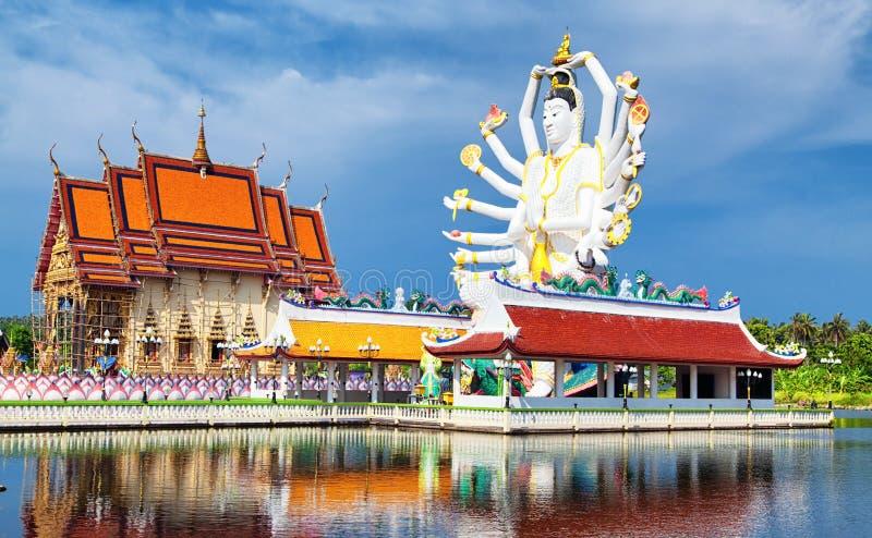在酸值苏梅岛,希瓦雕塑的泰国地标 免版税库存图片