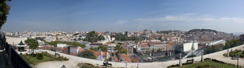 在里斯本,葡萄牙的全景 免版税库存照片