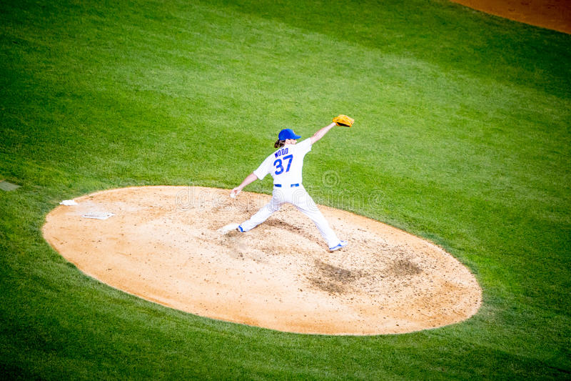 在里格利领域的棒球 免版税库存照片