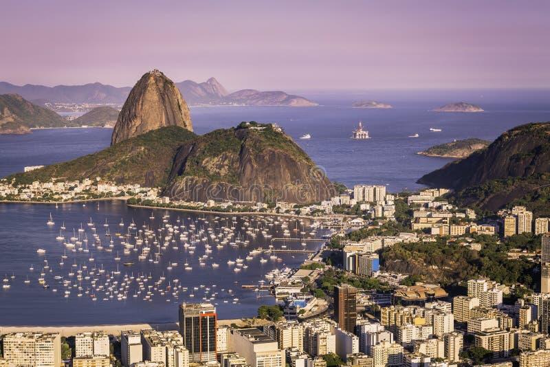 在里约热内卢的日落 免版税图库摄影