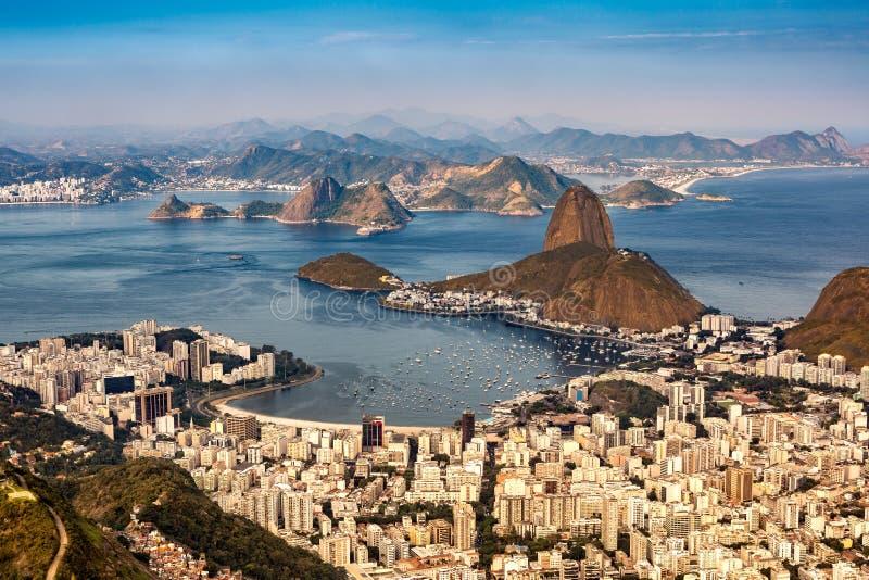 在里约热内卢的鸟瞰图 库存图片