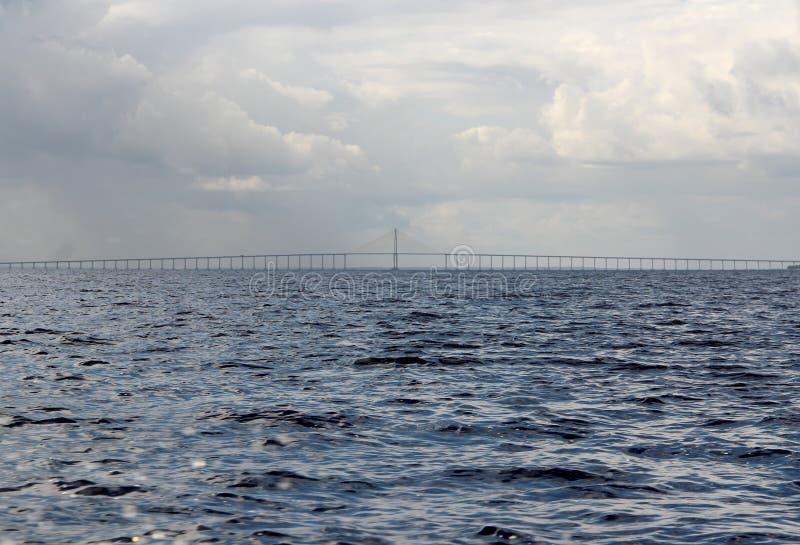 在里约黑人,马瑙斯,亚马逊的伟大的河桥梁 库存照片