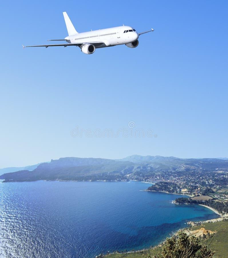 在里维埃拉的空中巴士法语 库存照片