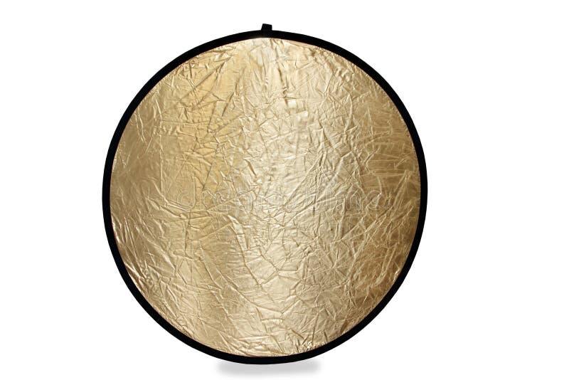 在金子的摄影轻的反射器 库存照片