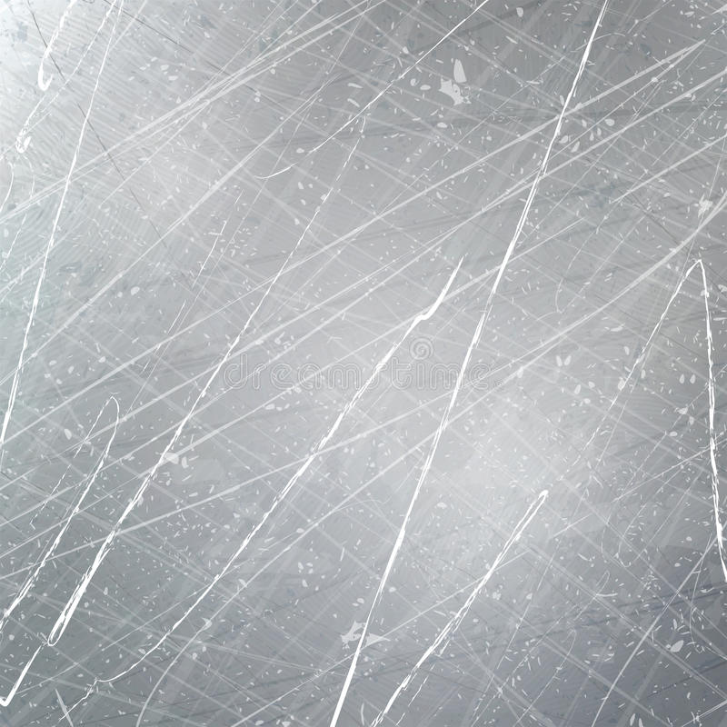在金属的抓痕 临时 grunge 纹理传染媒介 向量例证