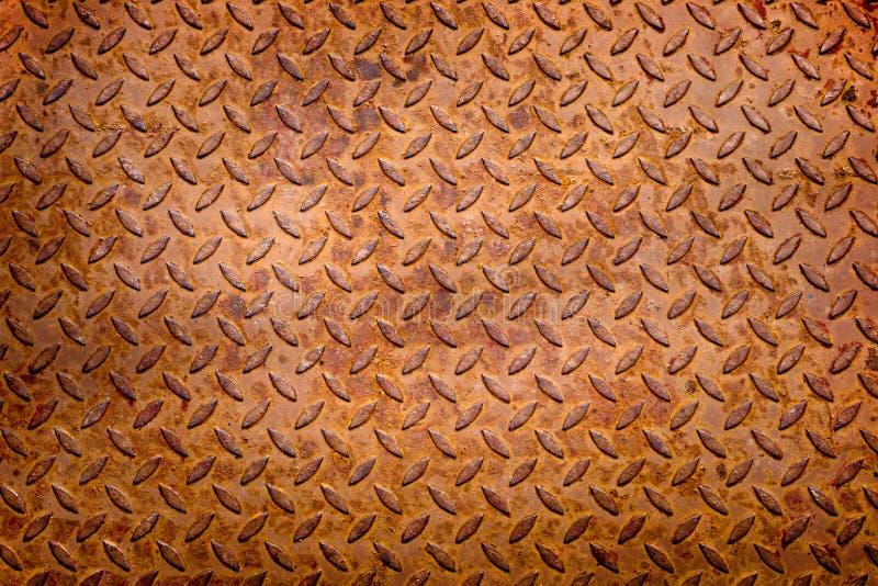 在金属背景的铁锈 免版税库存图片
