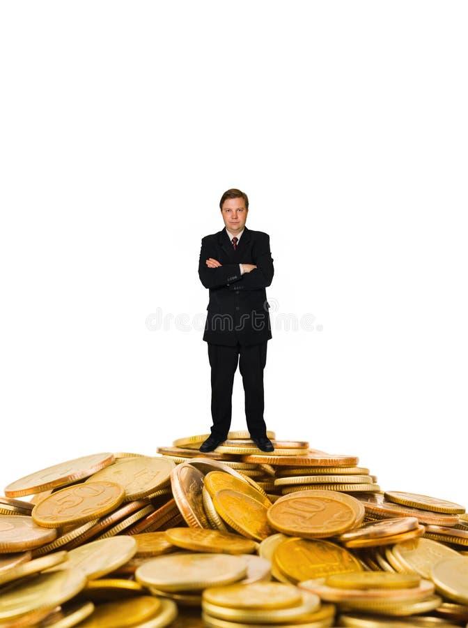 在金钱的商人 免版税图库摄影