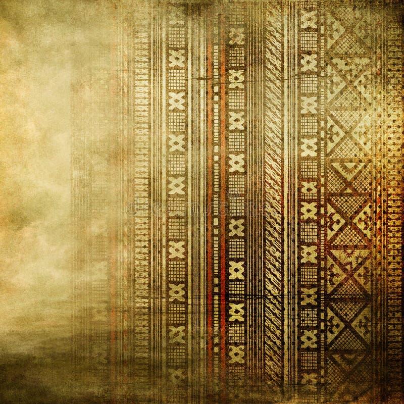 在金黄颜色的非洲纹理 免版税图库摄影