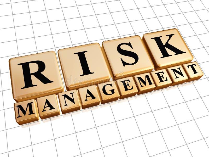 在金黄立方体的风险管理 向量例证