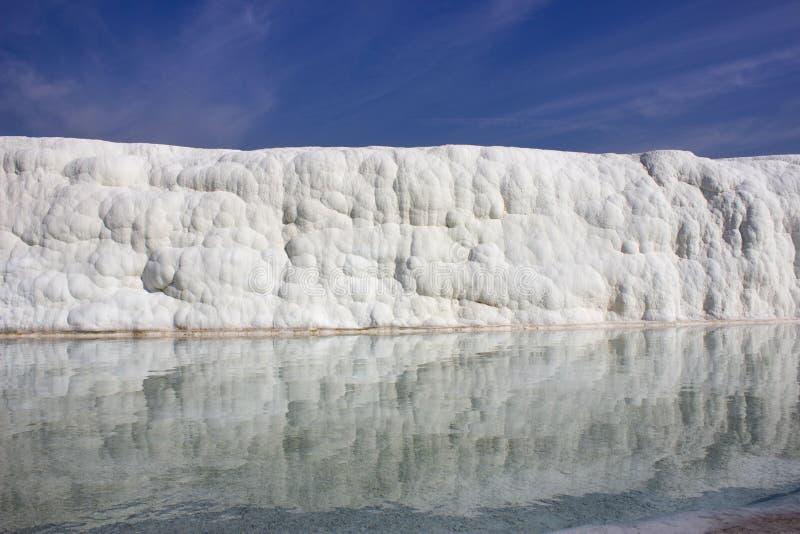 在钙质岩石水储蓄的反射  图库摄影