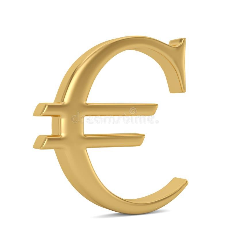 在钢指挥台的金黄欧洲标志 3d例证 库存例证