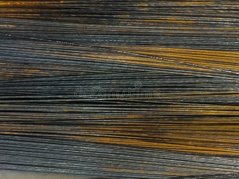 在钢标尺的铁锈 免版税库存图片