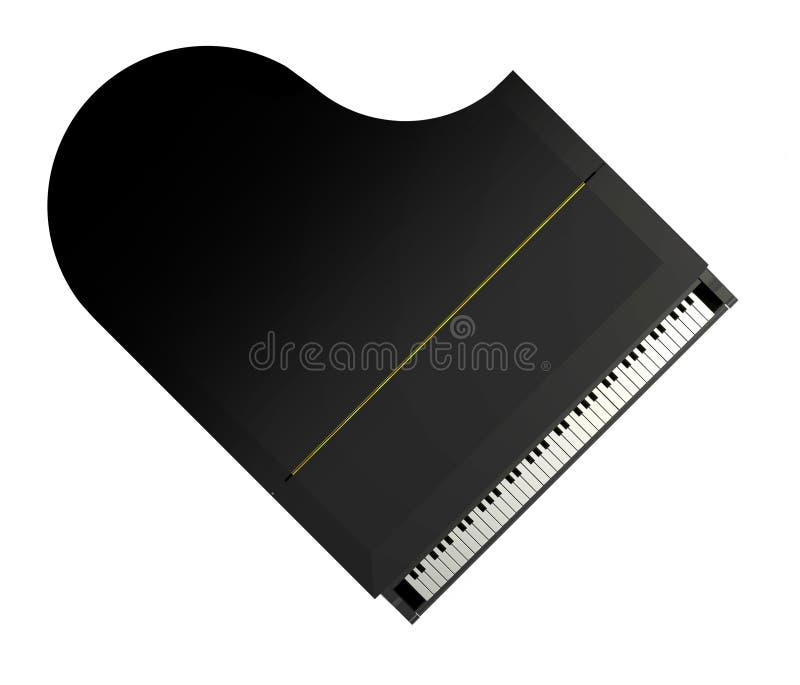 在钢琴之上 皇族释放例证