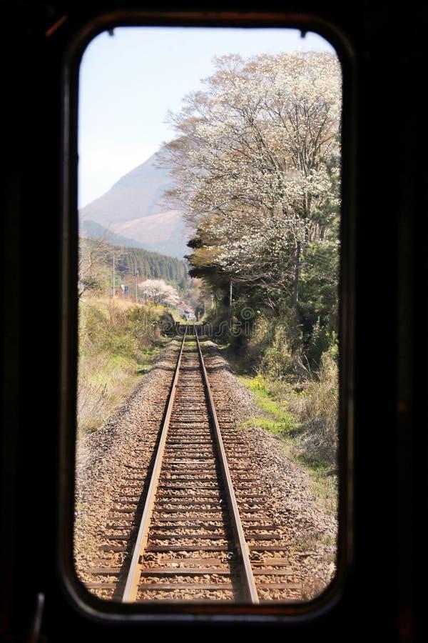 在铁路的旅途 免版税库存照片
