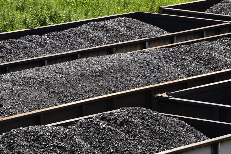 在铁路跳跃者汽车的西维吉尼亚煤炭 免版税图库摄影
