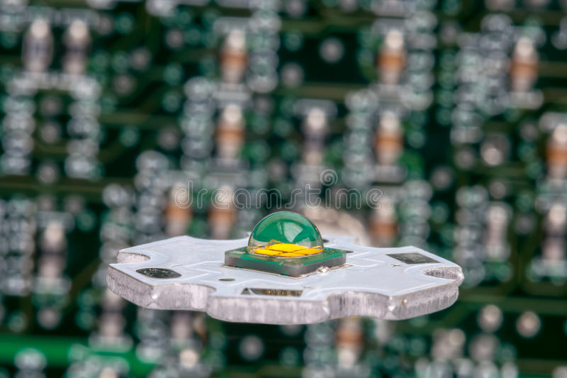 在铝星电路的强有力的smd LED 免版税图库摄影