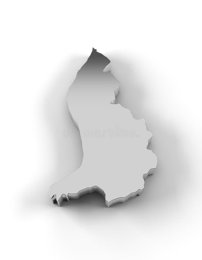 在银和包括裁减路线的列支敦士登地图3D 库存例证