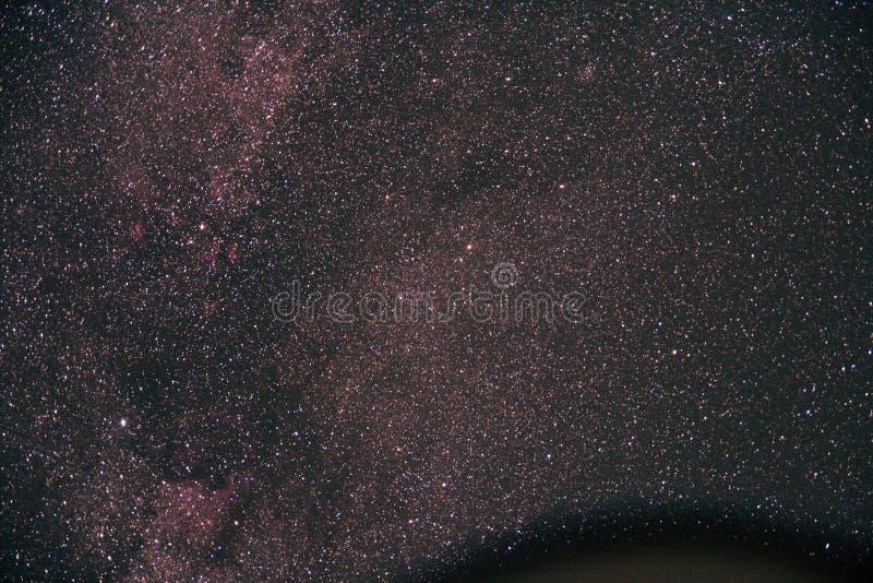 在银河的氢云彩 库存图片