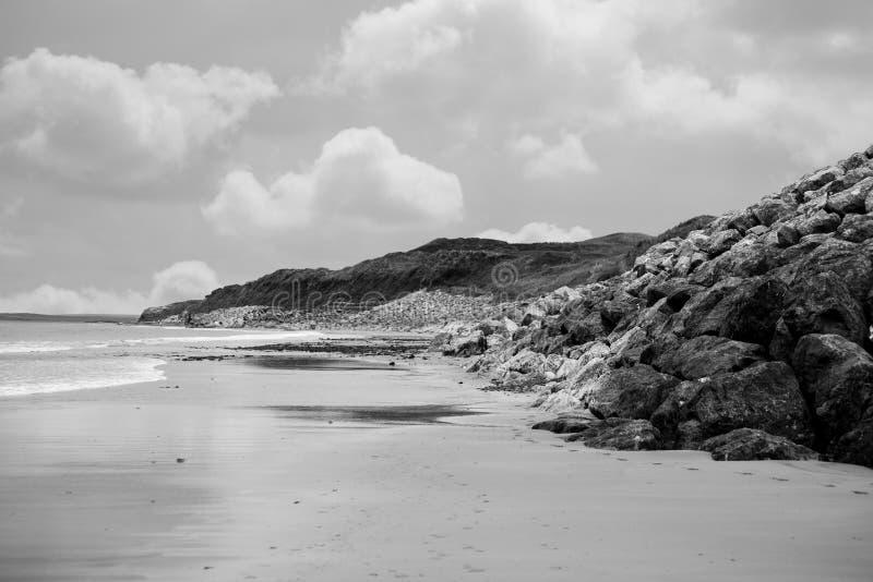 在链接旁边的海滩 免版税库存照片