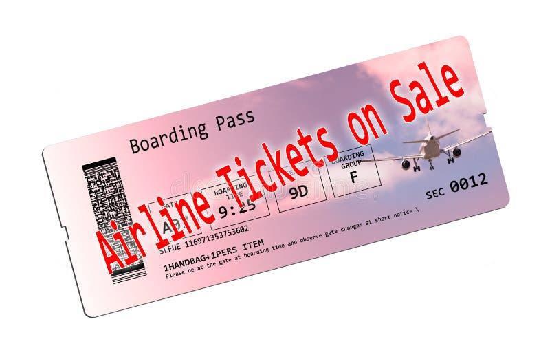 在销售中的飞机票 免版税库存照片