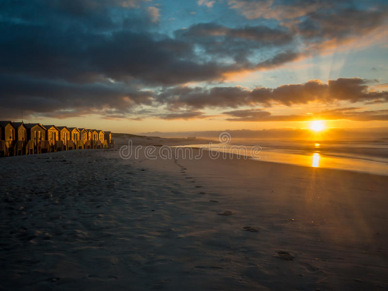 在错误海湾海滩的清早在南非- 9 免版税库存照片