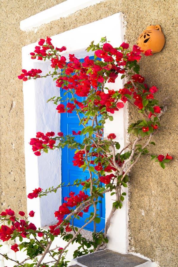 在锡弗诺斯岛海岛上的传统希腊房子 库存照片