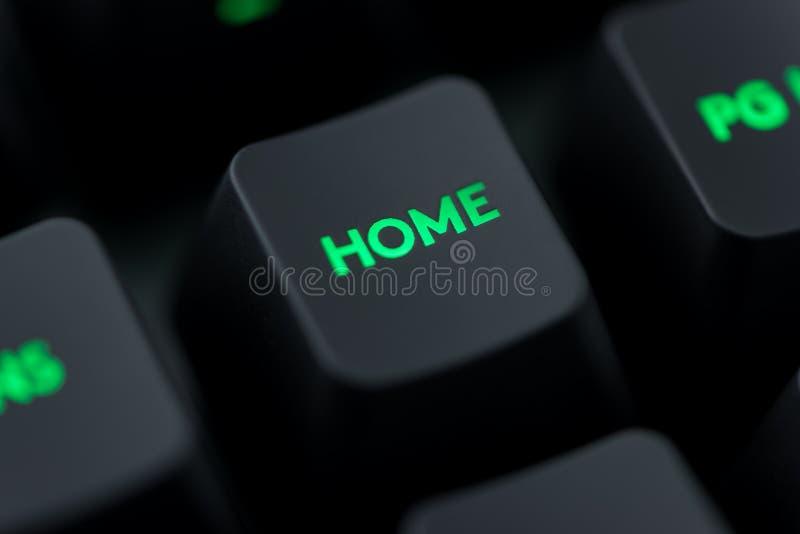 在键盘宏指令的回归键 图库摄影