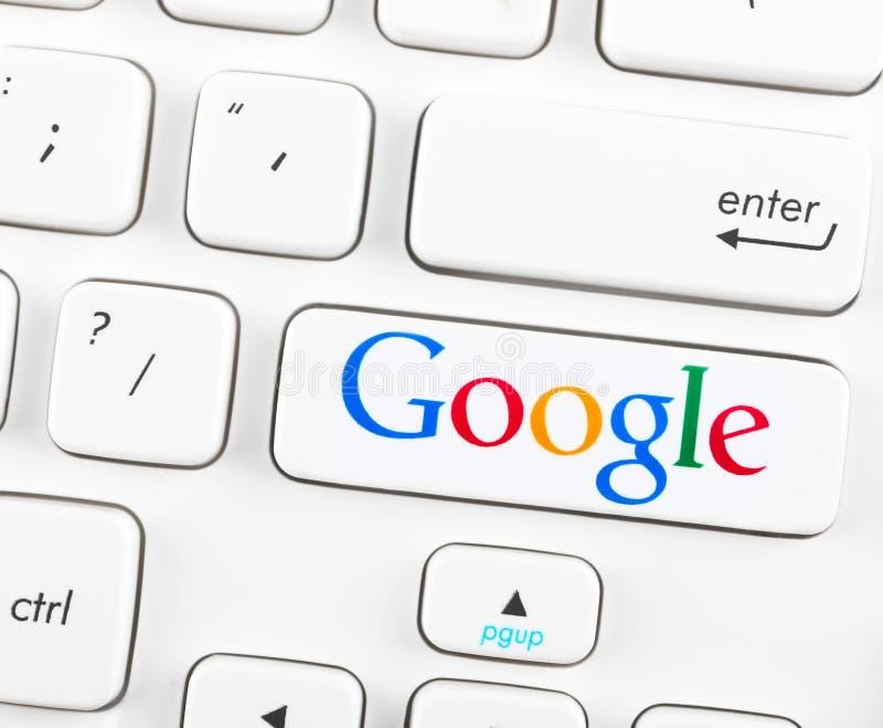 在键盘按钮的谷歌略写法 免版税库存照片
