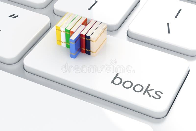 在键盘的书 登记概念教育查出的老 皇族释放例证