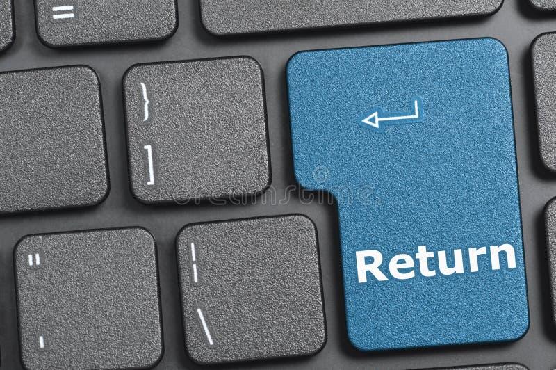 在键盘的回车键 库存照片