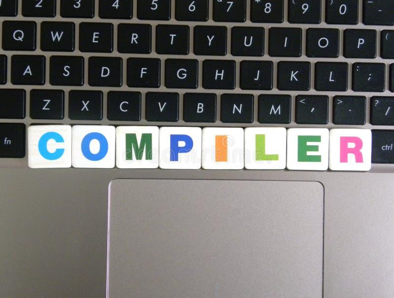 在键盘背景的词编译器 免版税库存照片