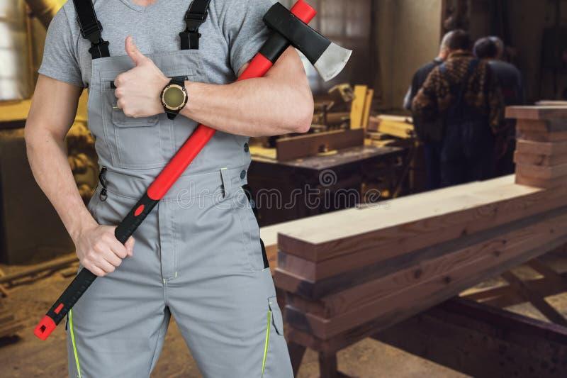 在锯木厂 免版税库存图片