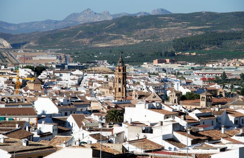 在镇屋顶的看法,安特克拉 免版税库存图片