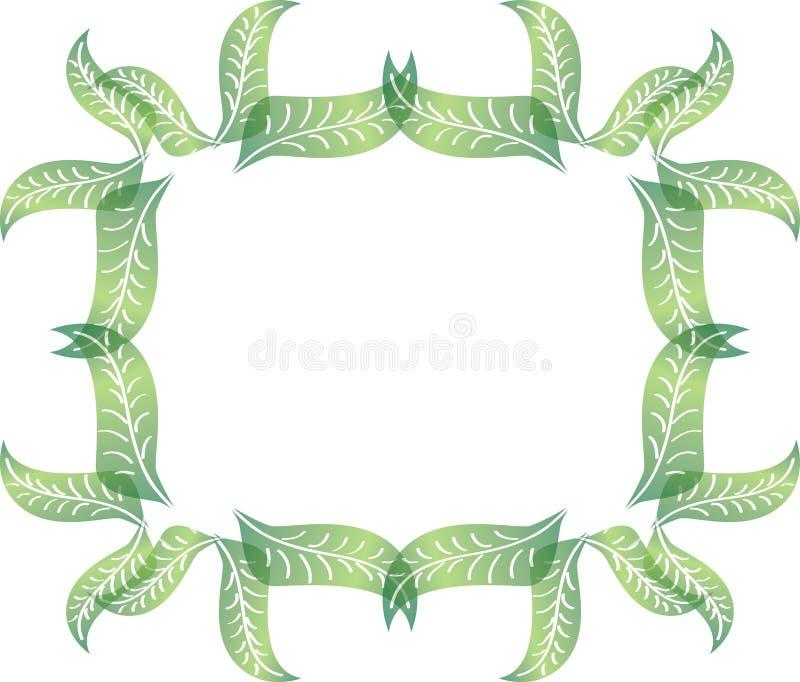 在长方形形状的版式折页传染茶叶叶子边界二媒介绿色v形状图片