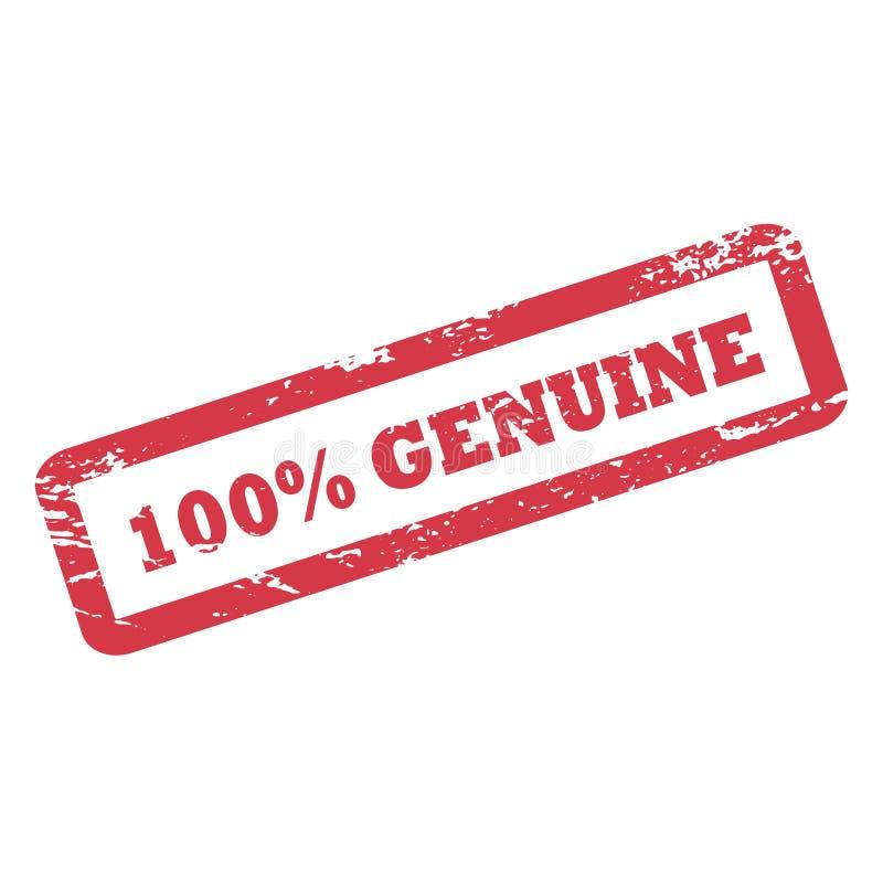 100%在长方形框架的真正题字 红色与概略的纹理的墨水不加考虑表赞同的人 皇族释放例证