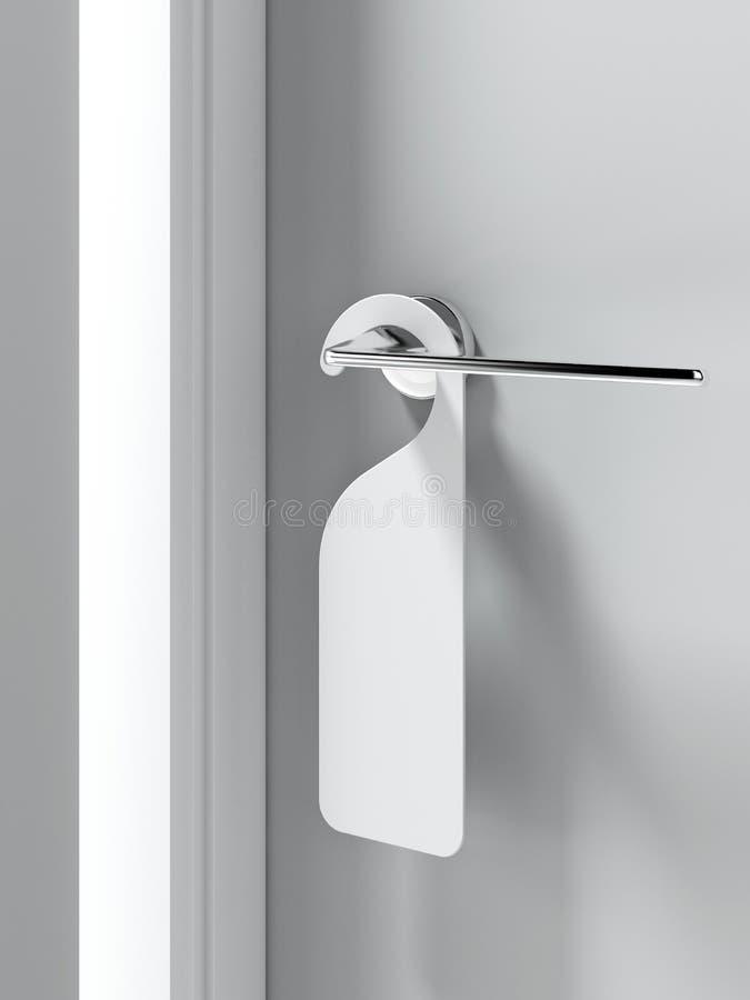 在门把手的空白的标志 向量例证