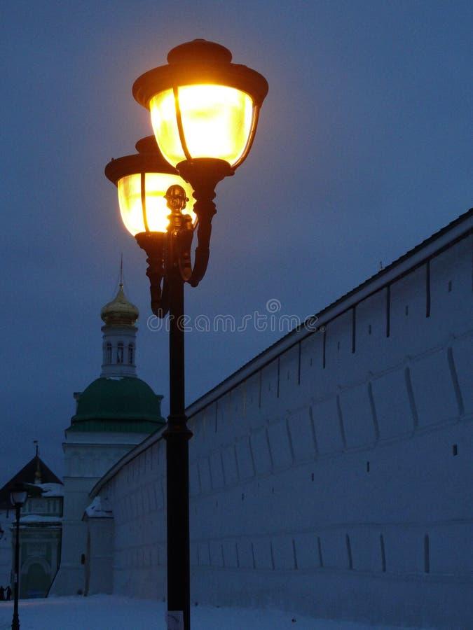 在门的灯笼在三位一体- Sergius拉夫拉 库存图片