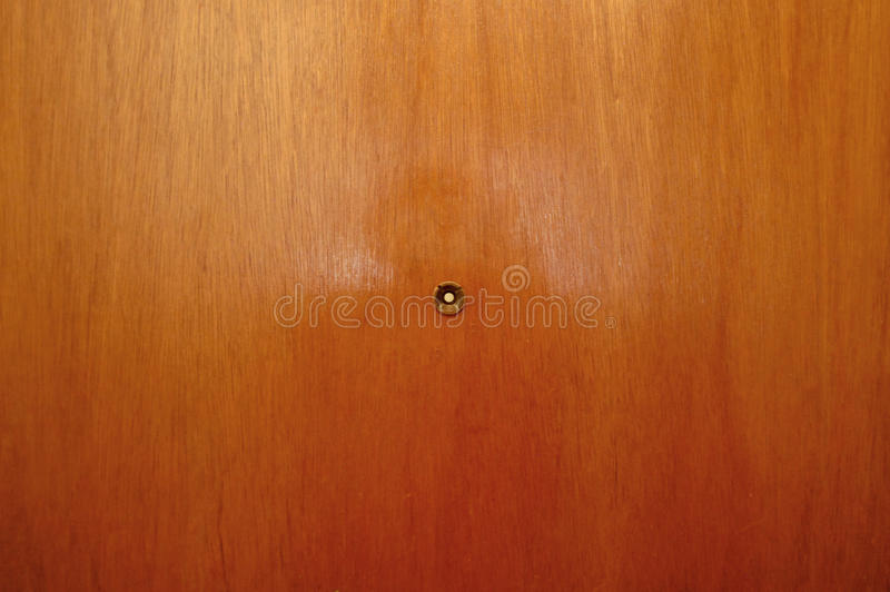 在门的窥视孔 免版税图库摄影