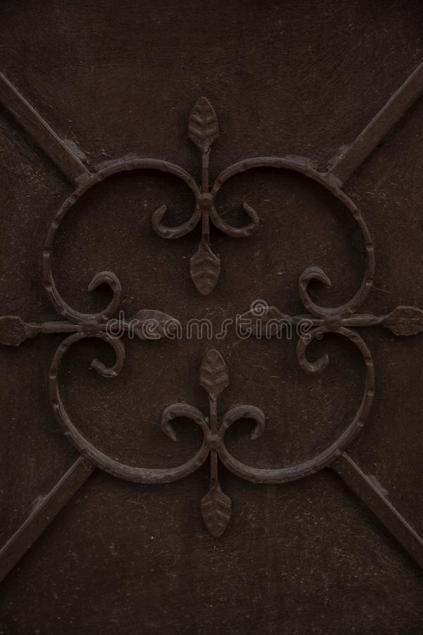 在门的装饰品 免版税库存照片