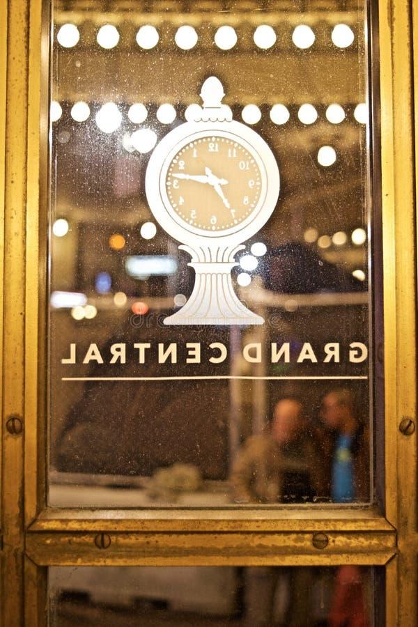 在门盛大中央驻地纽约的时钟 免版税库存照片