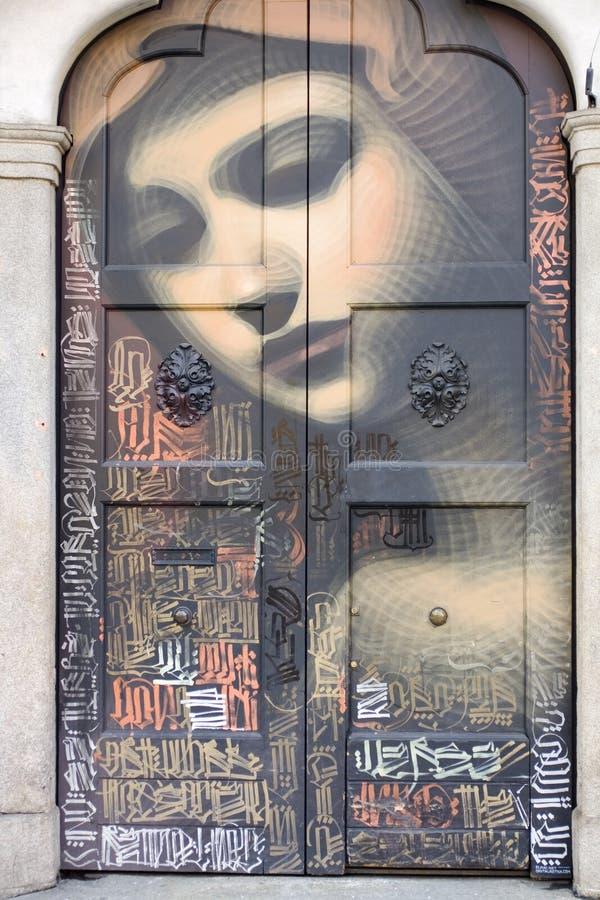 在门绘的圣母玛丽亚 皇族释放例证