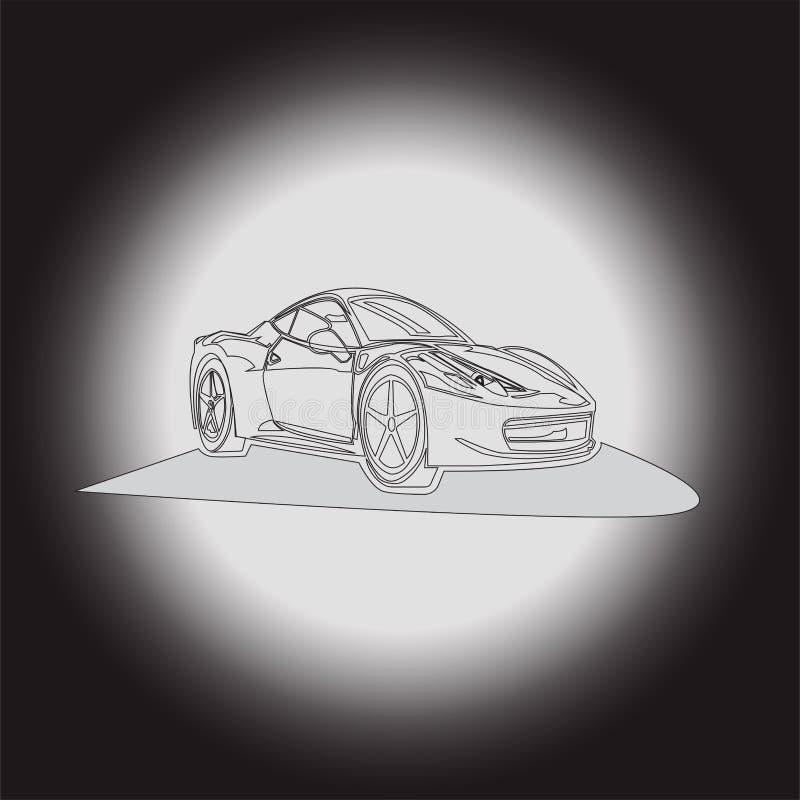 在阴影的汽车 向量例证