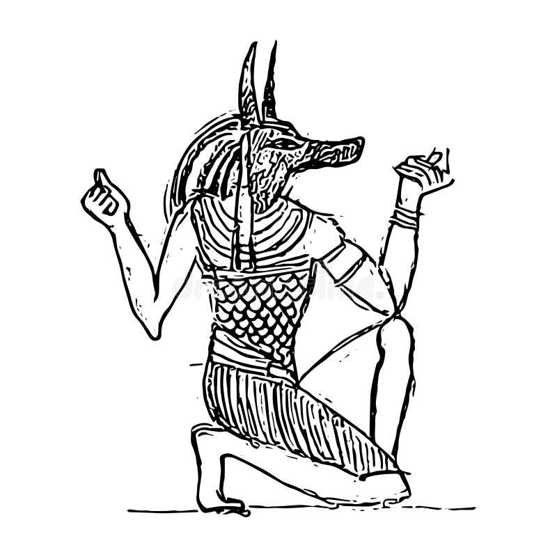 在阴间的Anubis 向量例证