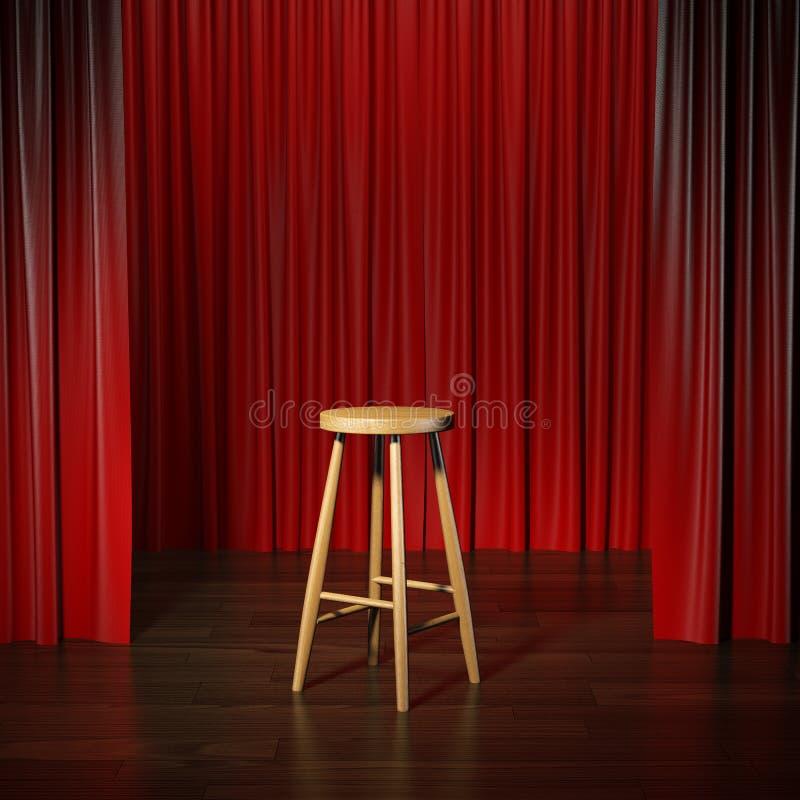 在阶段的凳子 免版税图库摄影