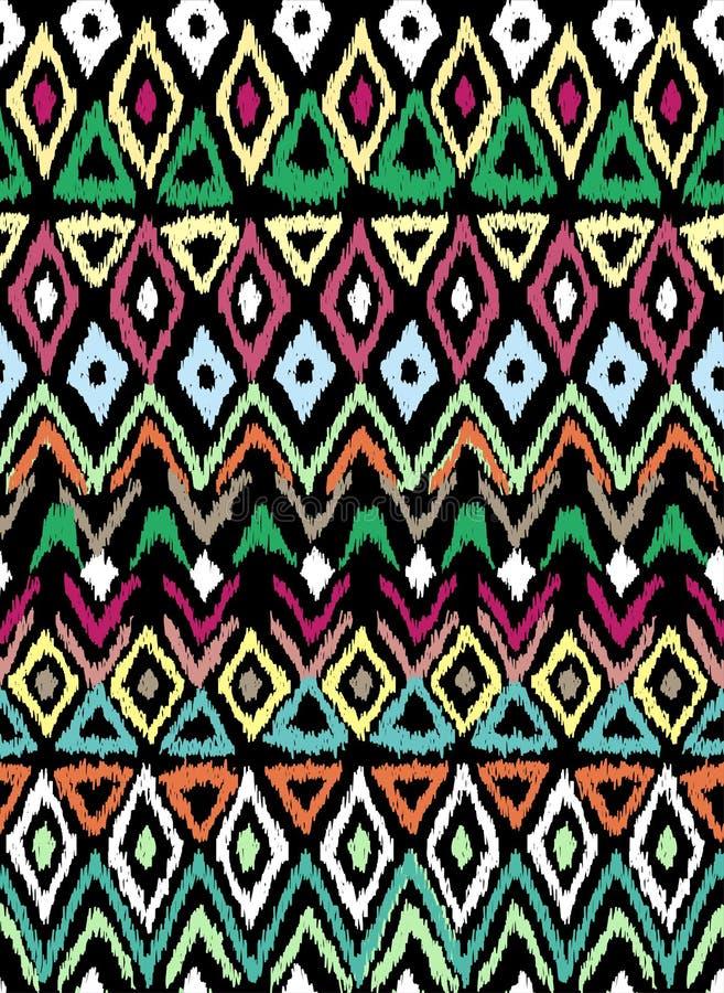 在阿兹台克样式的无缝的样式 皇族释放例证